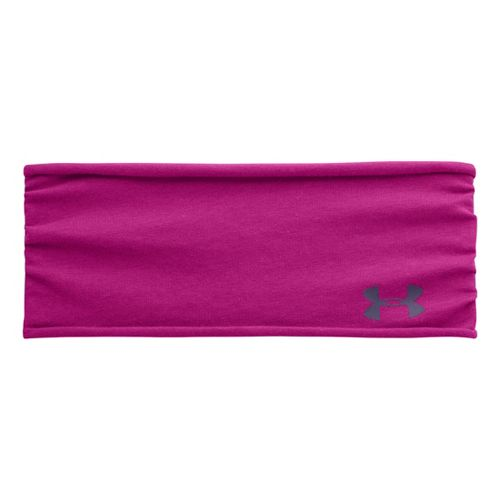 Womens Under Armour Tee Shirt Headband Headwear - Magenta Shock