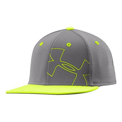 Kids Under Armour Boys Glow Stretch Fit Cap Headwear - Graphite XS/S
