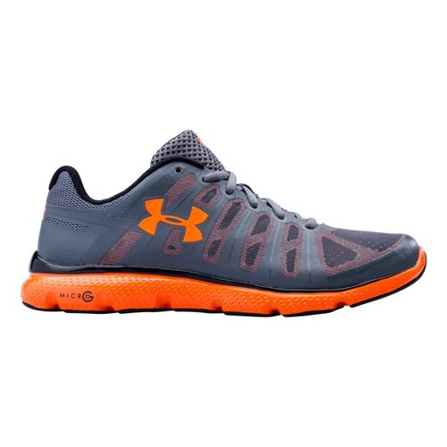 Mens Under Armour Micro G PULSE II Running Shoe - Graphite 11.5