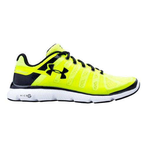 Mens Under Armour Micro G PULSE II Running Shoe - Hi-Viz Yellow 12