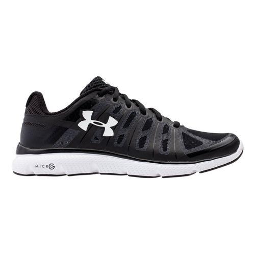 Mens Under Armour Micro G PULSE II Running Shoe - Black/White 10