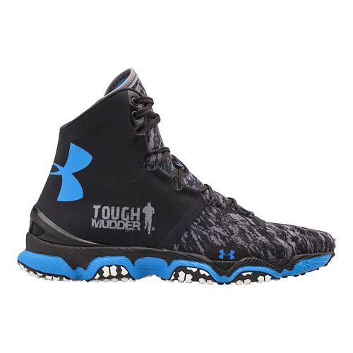 Mens Under Armour Speedform XC MID Running Shoe - Black/White 6