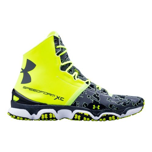 Mens Under Armour Speedform XC MID Running Shoe - Hi-Viz Yellow 16