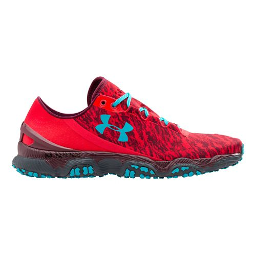 Mens Under Armour Speedform XC Running Shoe - Red/Pacific 14