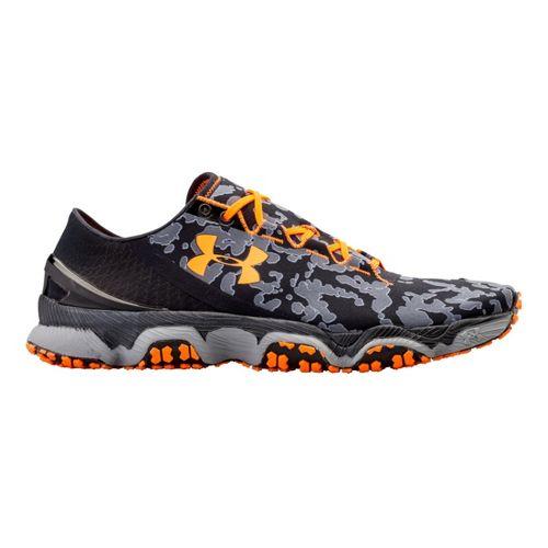 Mens Under Armour Speedform XC Running Shoe - Black/Blazing Orange 10