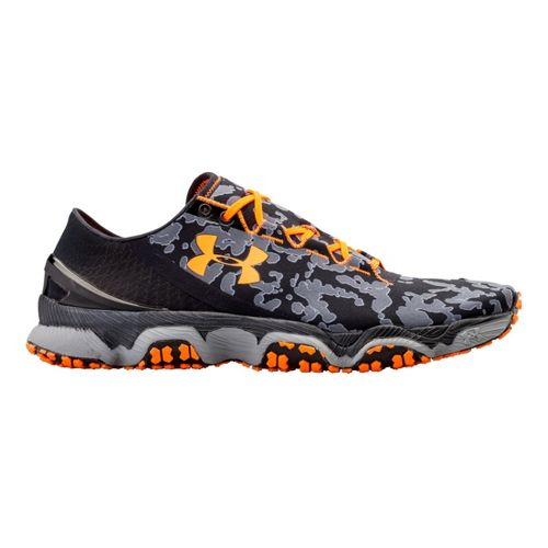 Mens Under Armour Speedform XC Running Shoe - Black/Blazing Orange 14