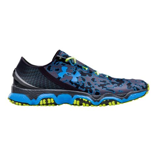 Mens Under Armour Speedform XC Running Shoe - Black/Electric Blue 10