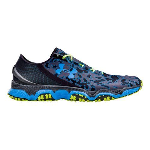Mens Under Armour Speedform XC Running Shoe - Black/Electric Blue 16
