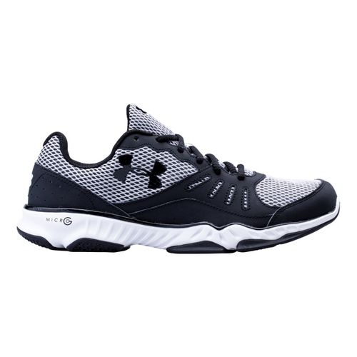 Mens Under Armour Micro G Pulse TR II Running Shoe - Black/White 11