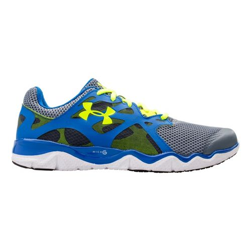 Mens Under Armour Micro G Monza Night Running Shoe - Gravel 12.5