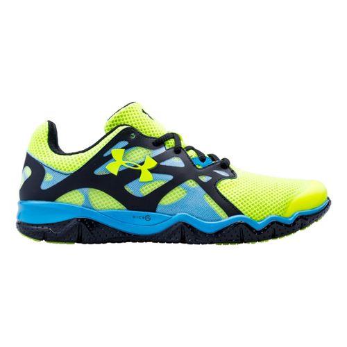 Mens Under Armour Micro G Monza Night Running Shoe - Hi-Viz Yellow 10