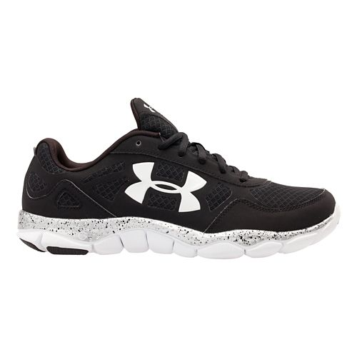 Mens Under Armour Micro G Engage BL Running Shoe - Black 11