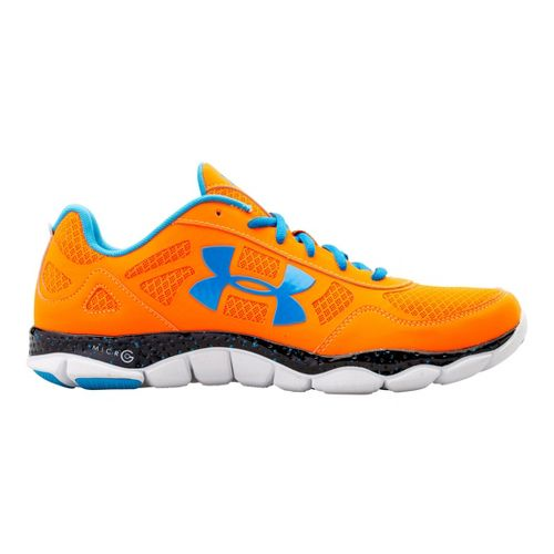 Mens Under Armour Micro G Engage BL Running Shoe - Blaze Orange 9.5