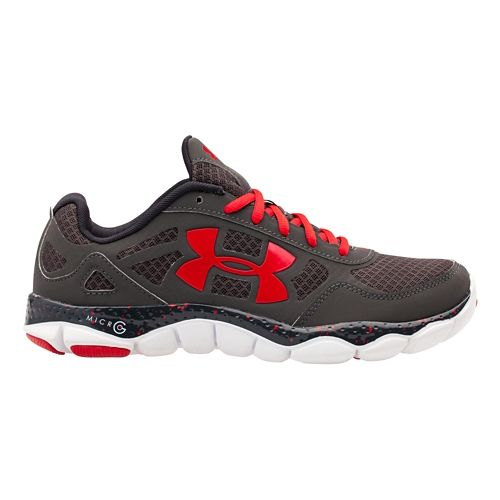 Mens Under Armour Micro G Engage BL Running Shoe - Charcoal 12.5