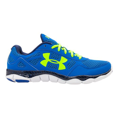 Mens Under Armour Micro G Engage BL Running Shoe - Scatter 9.5