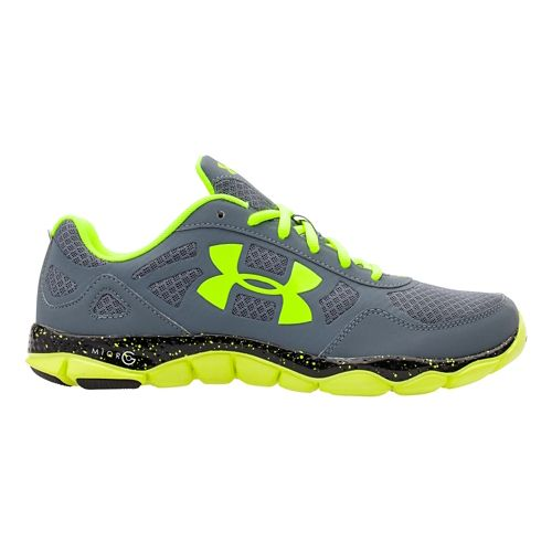 Mens Under Armour Micro G Engage BL Running Shoe - Steel 10.5