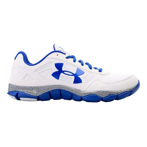 Mens Under Armour Micro G Engage BL Running Shoe - White 8.5