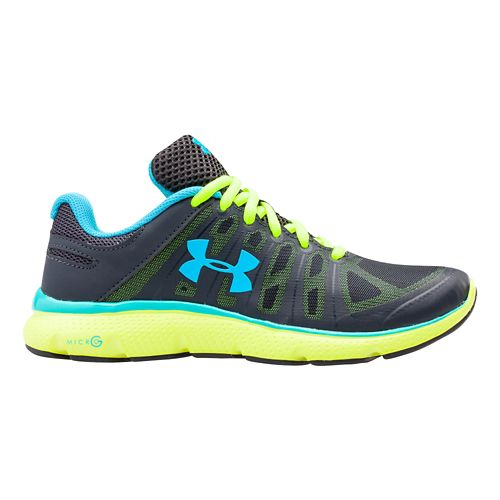 Womens Under Armour Micro G Monza Night Running Shoe - Steel 7.5