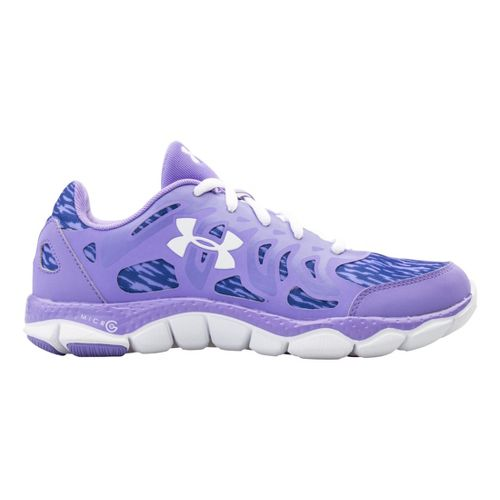Womens Under Armour Micro G Engage Print Running Shoe - Flax 10.5