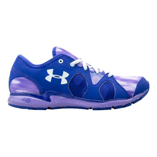 Womens Under Armour Micro G Neo Mantis Print Running Shoe - Siberian Iris 11