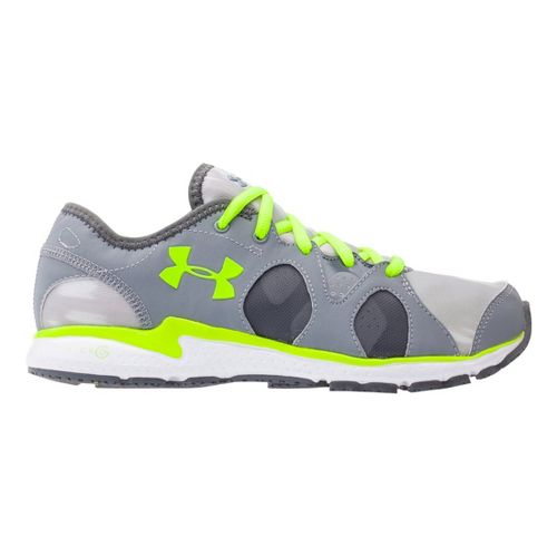 Womens Under Armour Micro G Neo Mantis Print Running Shoe - Steel 9.5