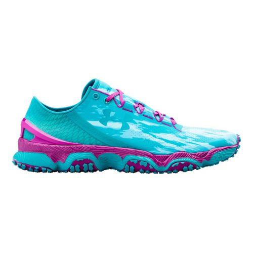 Womens Under Armour Speedform XC Running Shoe - Steel/Lead 10.5