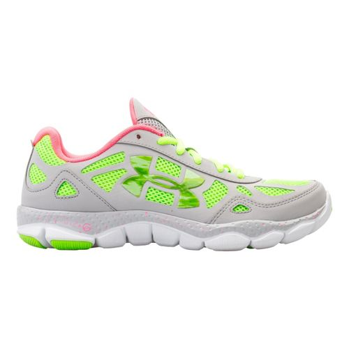 Womens Under Armour Micro G Engage BL Running Shoe - Aluminum 5.5