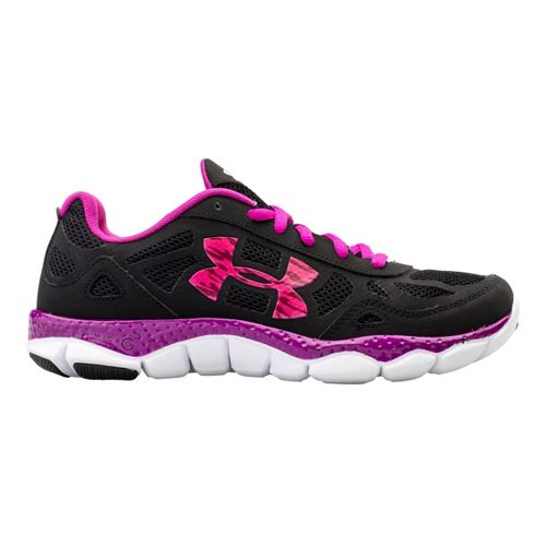 Womens Under Armour Micro G Engage BL Running Shoe - Black/Purple 10.5