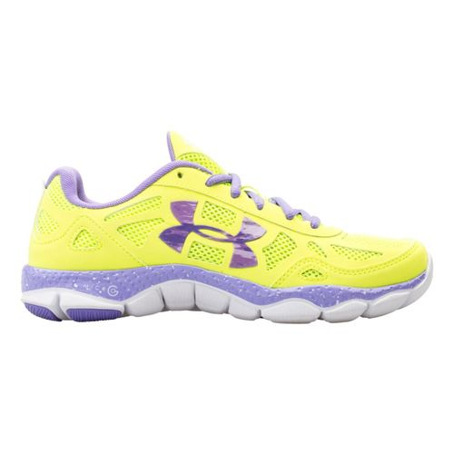 Womens Under Armour Micro G Engage BL Running Shoe - Hi-Viz Yellow 11