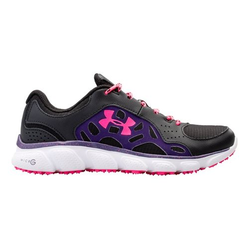 Womens Under Armour Micro G Assert IV Trail Running Shoe - Black/Purple 9.5