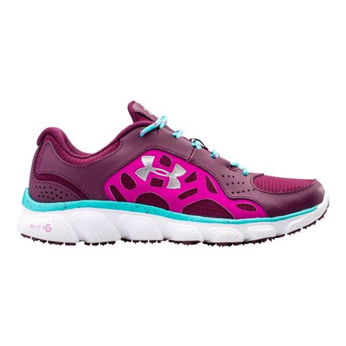 Womens Under Armour Micro G Assert IV Trail Running Shoe - Flourish 9.5