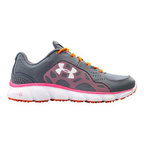 Womens Under Armour Micro G Assert IV Trail Running Shoe - Gravel 6.5