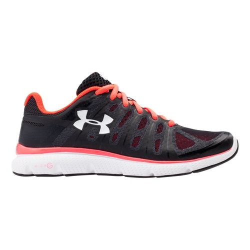 Womens Under Armour Micro G Pulse II Running Shoe - Black 10.5