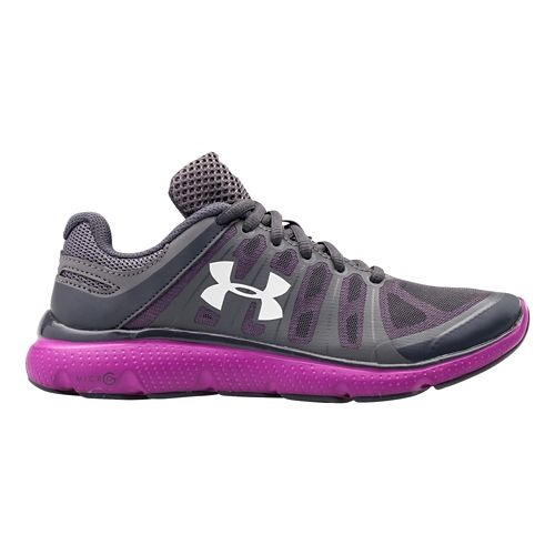 Womens Under Armour Micro G Pulse II Running Shoe - Graphite 9.5