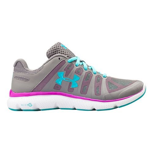 Womens Under Armour Micro G Pulse II Running Shoe - Steeple Grey 7.5