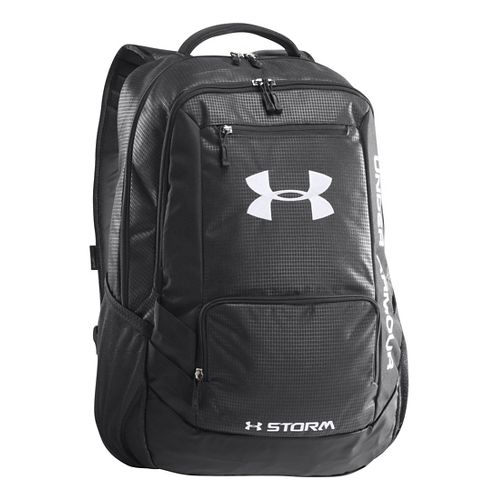 Under Armour Hustle Backpack Bags - Black/Steel