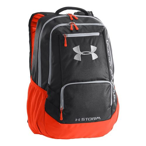 Under Armour Hustle Backpack Bags - Black/Volcano