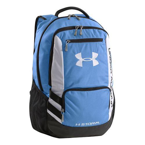 Under Armour Hustle Backpack Bags - Carolina Blue/Black