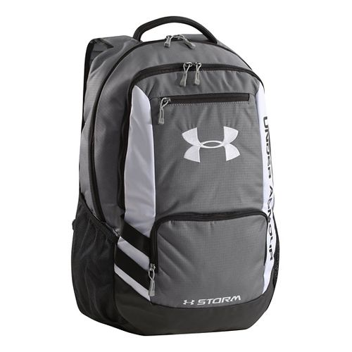 Under Armour Hustle Backpack Bags - Graphite/White