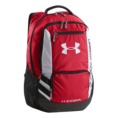 Under Armour Hustle Backpack Bags - Red/Black