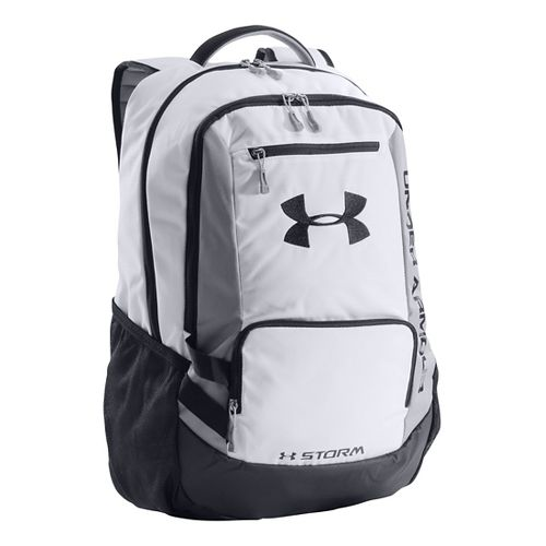 Under Armour Hustle Backpack Bags - White/Black