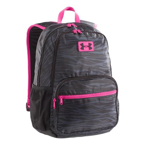 Kids Under Armour Girls Great Escape Backpack Bags - Black/Chaos