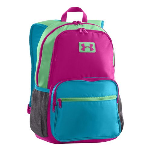 Kids Under Armour Girls Great Escape Backpack Bags - Magenta Shock/Teal Ice