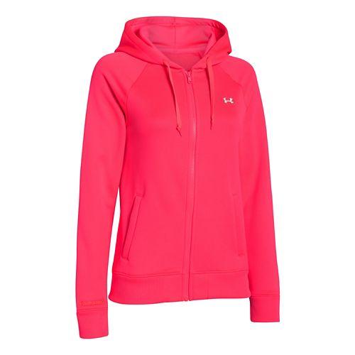 Womens Under Armour Fleece Full Zip Hoody Running Jackets - Neo Pulse XS