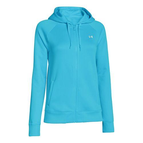 Womens Under Armour Fleece Full Zip Hoody Running Jackets - Surf's Up XL