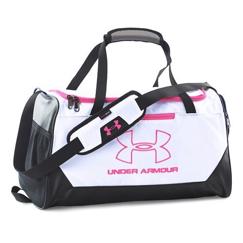 Under Armour Hustle-R Duffel Small Bags - White/Rebel Pink