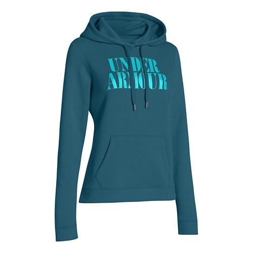 Womens Under Armour Undisputed Cotton Hoody Long Sleeve No Zip Technical Tops - Legion Blue ...