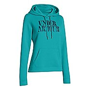 Womens Under Armour Undisputed Cotton Hoody Long Sleeve No Zip Technical Tops