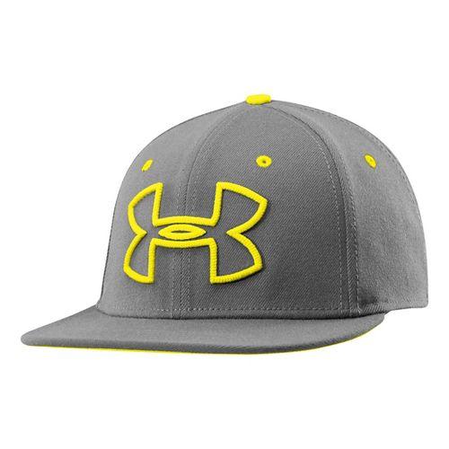 Mens Under Armour Front Center Cap Headwear - Charcoal L/XL