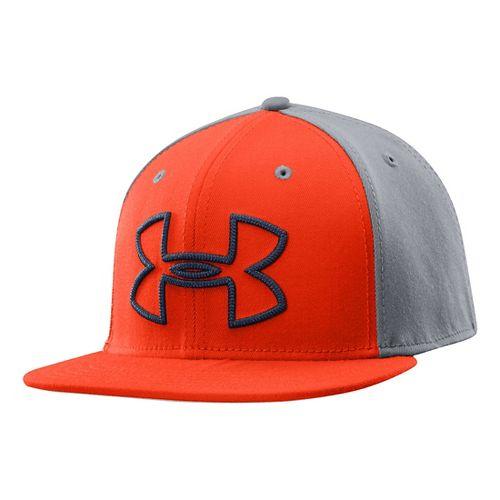 Mens Under Armour Front Center Cap Headwear - Volcano L/XL